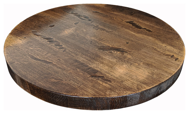 Reclaimed Wood Top Farmhouse Table, Round Wood Table Tops