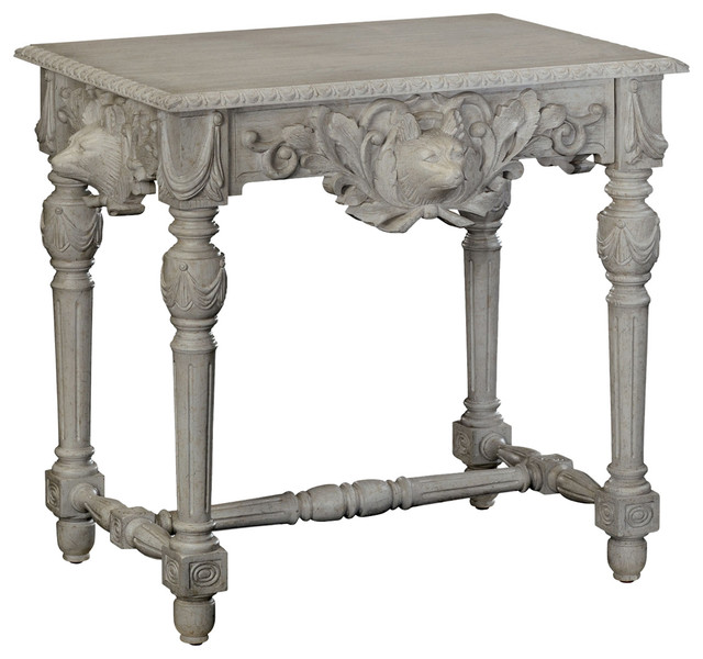 Jonathan Charles Godwyn Gray Oak Side Table Traditional Tables And End