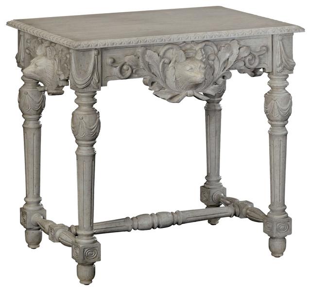 Jonathan Charles Godwyn Country White Oak Side Table Traditional