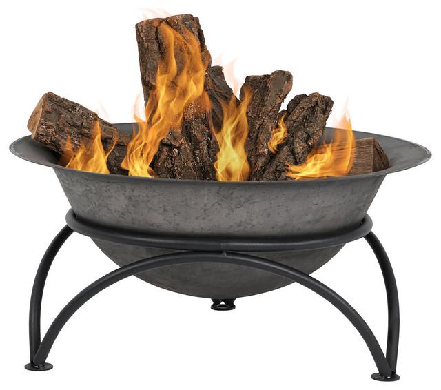 Sunnydaze Dark Gray Wood Burning Cast Iron Fire Pit Bowl 24 Diameter