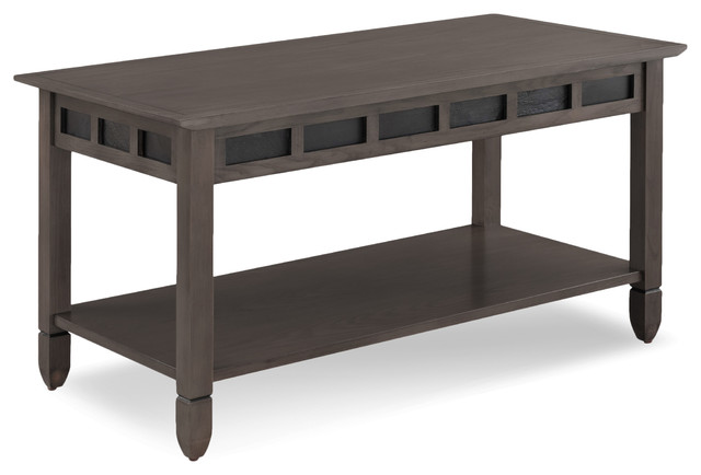 Smoke Gray Oak And Black Slate Coffee Table