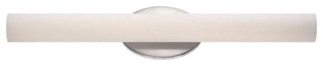 """Modern Forms Loft LED Bath and Wall Light, Brushed Nickel, 24"""""""