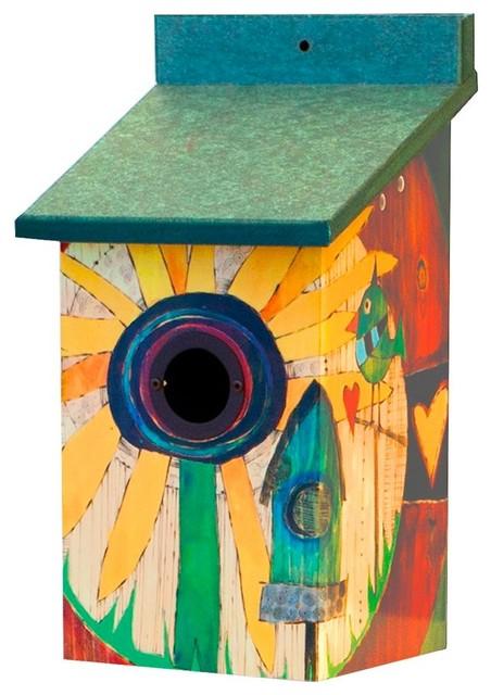 Sunflower Birdhouse, Vinyl and PVC