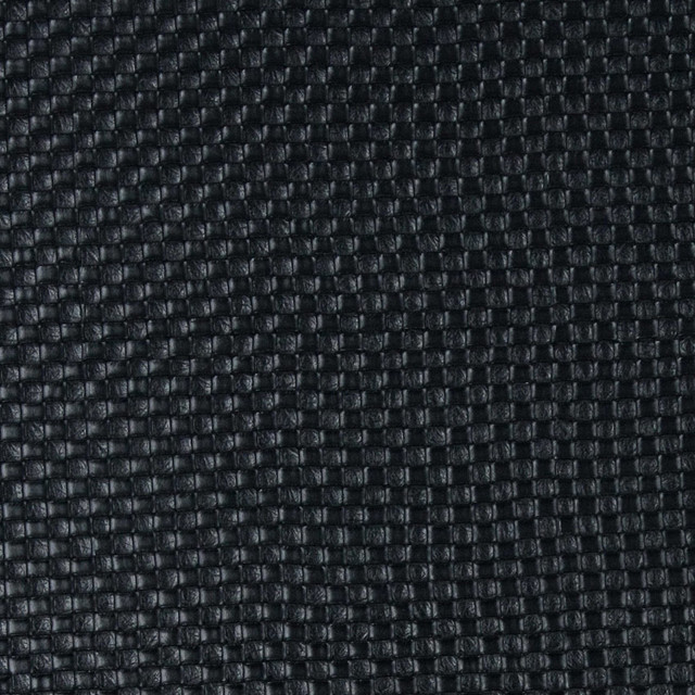 Black Basket Weave Textured Vinyl By The Yard