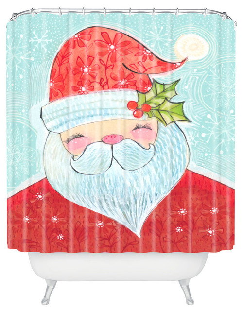 Deny Designs Cori Dantini Sweet Santa Shower Curtain Contemporary Curtains