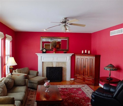 Red Paint For Living Room