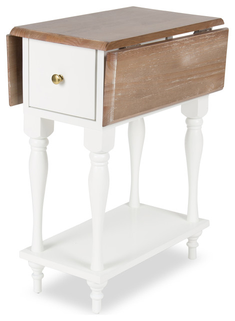 Sophia Drop Leaf End Table With 2