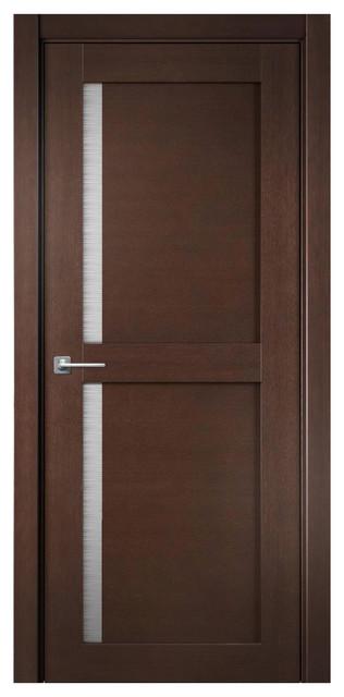 Satin Glass Door : Sarto doors modum interior door stained oak