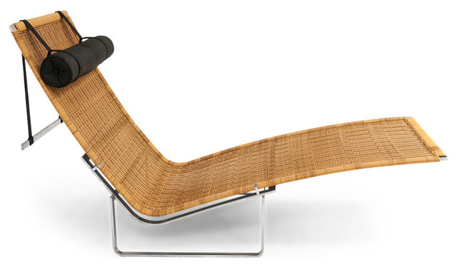 Chaiselongue rattan  PK24 Modern Rattan Chaise and Stainless Steel Lounge Chair With ...