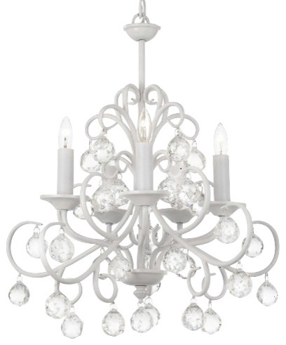 White chandeliers thejots the gallery bellora crystal white wrought iron chandelier with lighting ideas mozeypictures Gallery