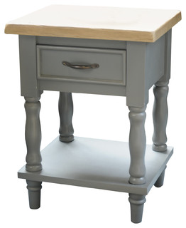 Side Table With Drawer and Shelf - Traditional - Side Tables & End ...