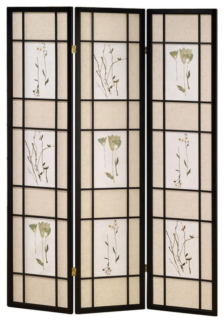 Pleasant 3 Panel Shoji Room Divider Screen In Black Home Interior And Landscaping Ologienasavecom
