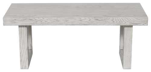 Modern Wooden Bench, Weathered Gray