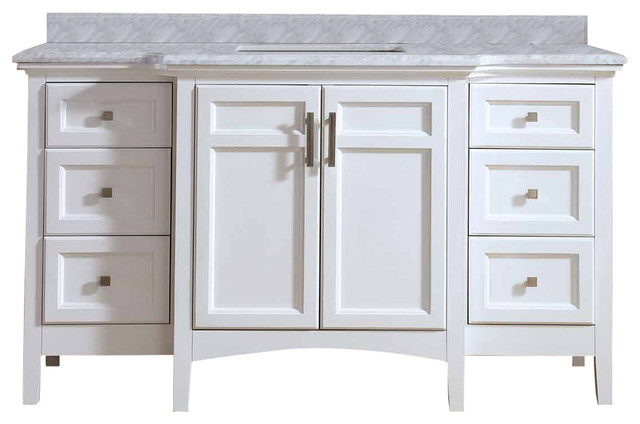 luz single bathroom vanity set - transitional - bathroom vanities