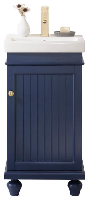 """Legion Furniture Dawson Single Sink Vanity, Blue, 18"""""""