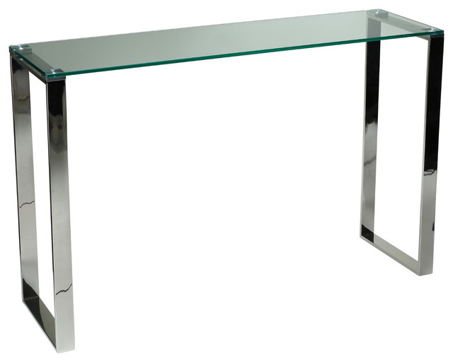 Remi Contemporary Glass Console Table Chrome Modern  : modern console tables from www.houzz.com size 640 x 512 jpeg 29kB