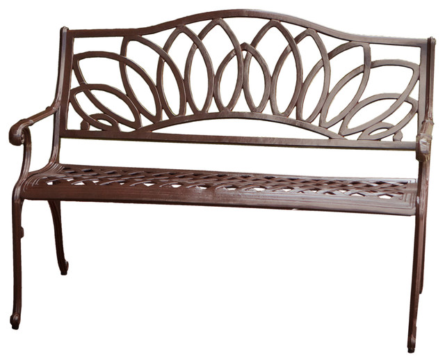 GDFStudio Brockway Cast Aluminum Garden Bench Outdoor Benches