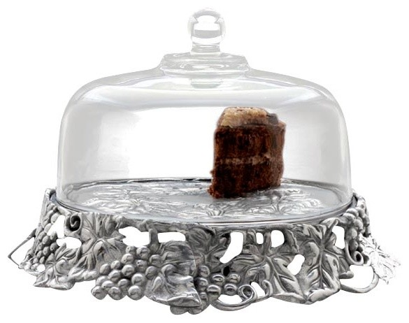 Grape Cake Stand w/ Glass Dome  sc 1 st  Houzz & Grape Cake Stand w/ Glass Dome - Traditional - Dessert And Cake ...