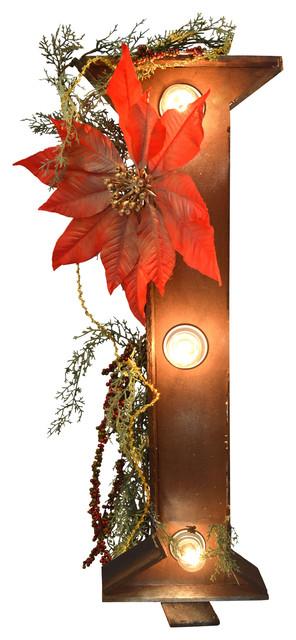 """Illuminated Christmas Letter """"I"""""""