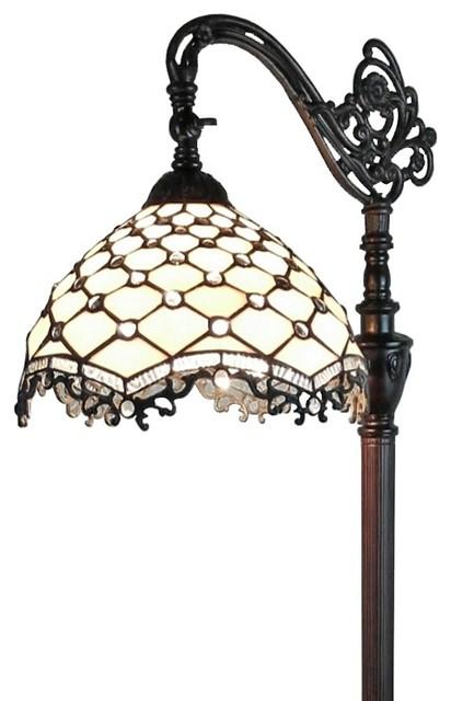 Baylor Jeweled Tiffany-Style Reading Floor Lamp, 62.