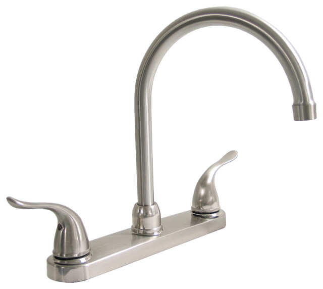 Kissler Dominion Kitchen Faucet Without Spray, Brushed Nickel - Kitchen Faucets