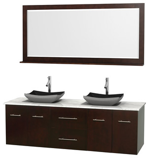 72 In Double Bathroom Vanity In Espresso Green Glass Countertop Altair Bla