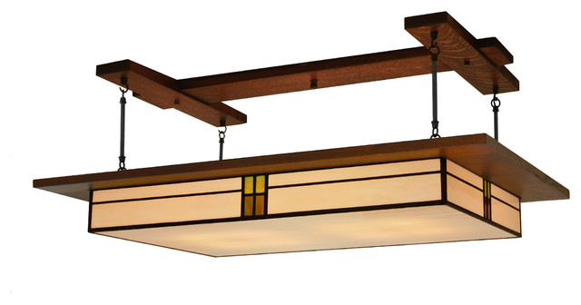Dining Room Lighting, Prairie Style Light Fixture #907 Craftsman Pendant  Lighting Part 7