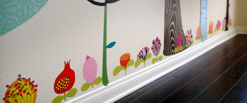 Pop & Lolli Fabric Wall Decals - Blooming Blossoms modern decals