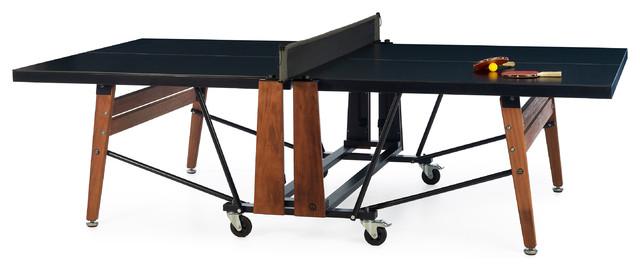 RS# Folding Ping Pong Table, Black