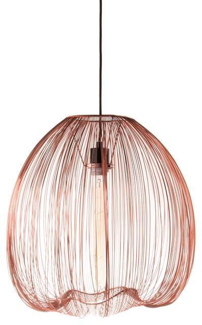 Modern Pentand Lamp, Copper.