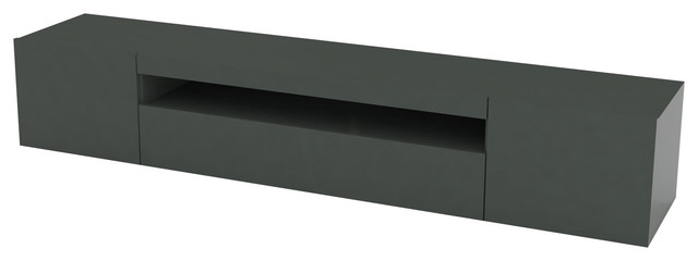 Daiquiri Contemporary TV Stand, Anthracite