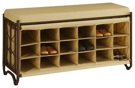 Bench With Shoe Cubbies - Contemporary - Shoe Storage - by MoreStorage ...