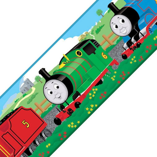Thomas Train Tank Engine Self Stick Wall Border Accent Roll  Contemporary Wallpaper Part 83
