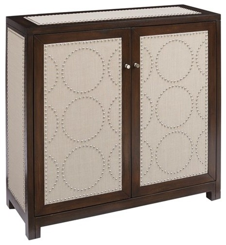 Madison Park Allegro MDF and Wood Cabinet, Chocolate