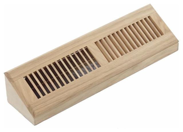 Hardwood Vent Baseboard Diffuser Wall Register Unfinished