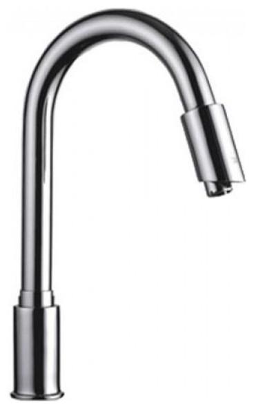 Trio Long Neck Brass Motion Sensor Kitchen Faucet   Motion Sensor Bath  Faucet