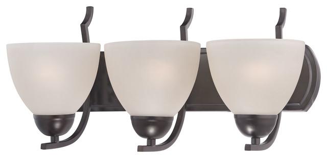 Hampton Bay 3 Light Oil Rubbed Bronze Vanity Light With: Cornerstone Kingston 3-Light Bath Bar