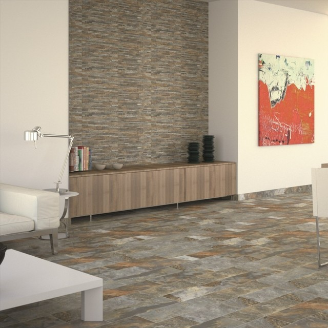 Chennai Stone Slate Effect Floor Tiles