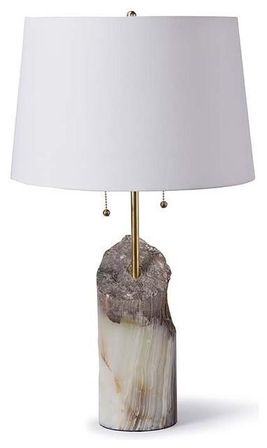 Regina Andrew Round Raw Jade Lamp