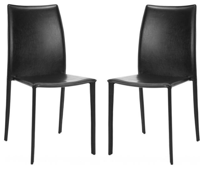 Wyatt Side Chairs, Set Of 2, Black.