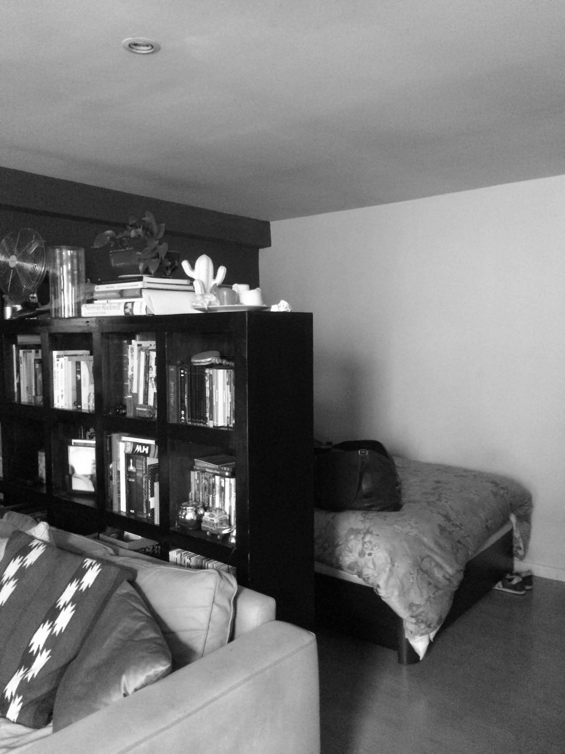 Zona de dormitorio, antes de la reforma.