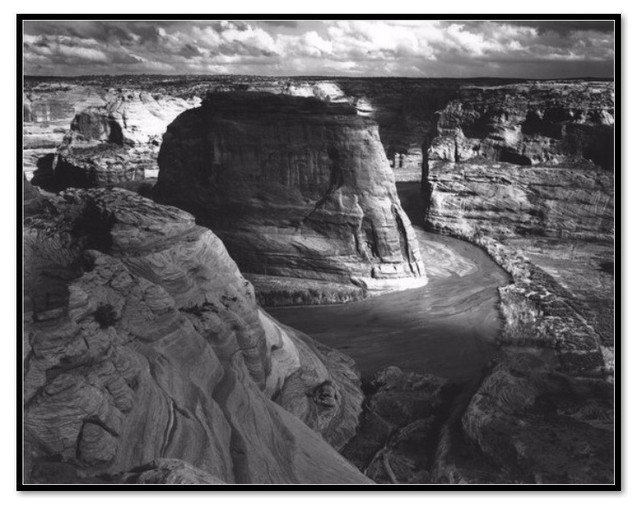 Photography Print Ansel Adams Canyon De Chelly Valley From Mountain