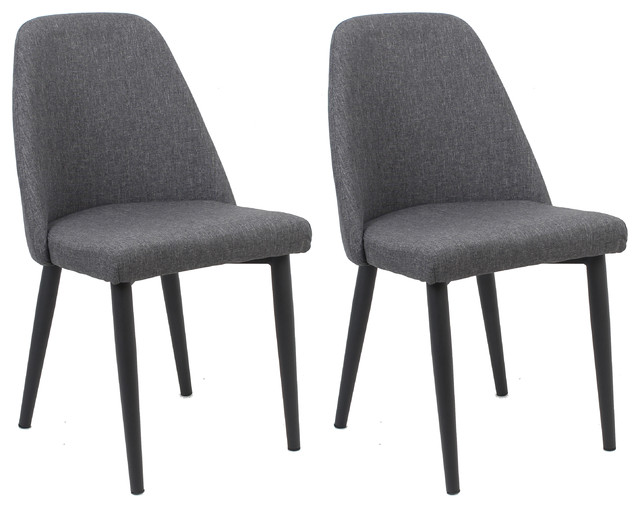 Nuha Dining Chairs, Set of 2, Gray