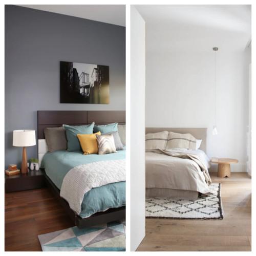 Deco en el dormitorio paredes de color oscuro o claro for Dormitorio oscuro