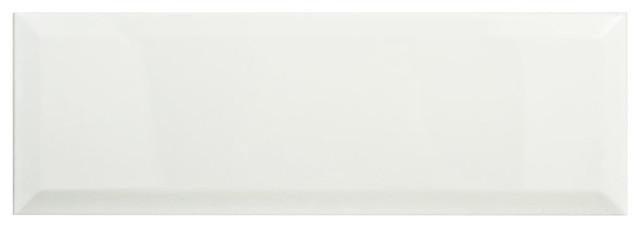 "4""x11.88"" Thera Loft Ceramic Wall Tiles, Set Of 34, Blanco."
