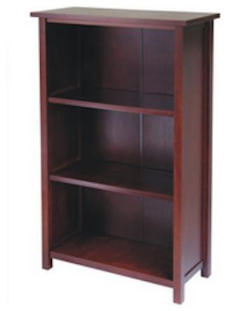 Milan Storage Shelf Or Bookcase, 3-Tier, Medium.
