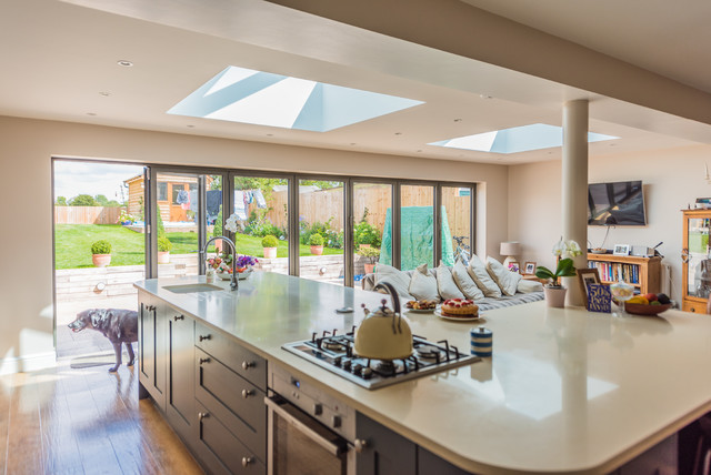 Eco Roof Lantern On Family Friendly Flat Home Extension Contemporary  Skylights