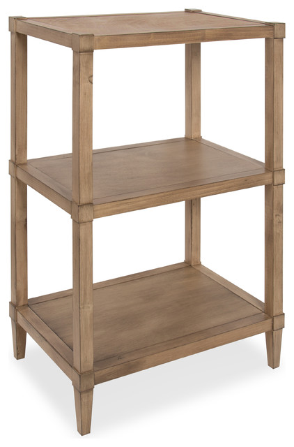 Rio Free Standing Wooden Bookcase With 3 Shelves Transitional Bookcases By Uniek Inc