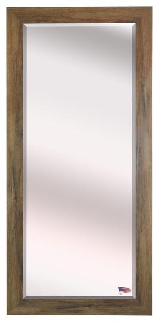 Us Made Brown Barnwood Beveled Oversized Full Body Mirror, Oversized.