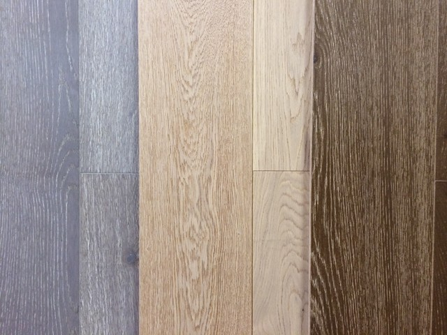 French White Oak Wire Brushed Wide Plank Engineered Wood